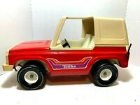 Vintage 1970's  Tonka  Large  Red   Jeep  Bronco   Pressed Steel