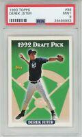 1993 Topps #98 DEREK JETER RC Rookie (Yankees) HOF PSA 9 MINT