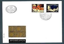 YUGOSLAVIA - JUGOSLAVIA - 1975 - BUSTA - FDC - Europa. Dipinti