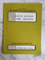 Catalogue Di Vendita Antico art1900 Mobili N°1 24 Febbraio 1975