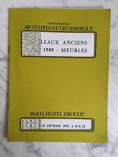 Catalogue de vente Tableaux anciens art1900 Meubles Salle n°1 24 Février 1975