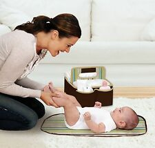 Diapering Organizer Caddy Baby Infant Diaper Changing Pad Portable Storage Kit