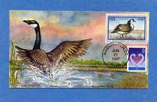 Sc #RW 64 Canada Goose Doris Gold Cachets First Day Cover