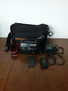 JVC COMPACT VHS GR-AX600E CAMCORDER Camera 2 BATTERIES  CHARGER  CARRY BAG
