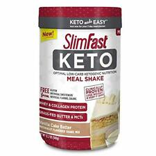 SlimFast Keto Meal Replacement Shake Powder, Vanilla Cake Batter