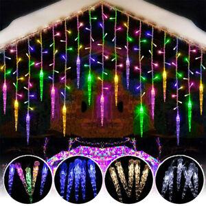 LED Curtain Icicle Lights Window Fairy Ice Piton String Light Wedding Home Decor