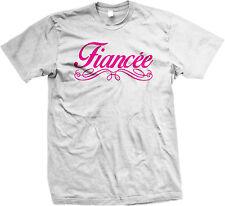 Fiancee French Spelling Fancy Script Wedding Marriage Wife Mens T-shirt