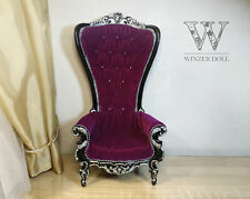 1/6 Fabulous baroque armchair, doll throne 1/6 scale, bjd furniture