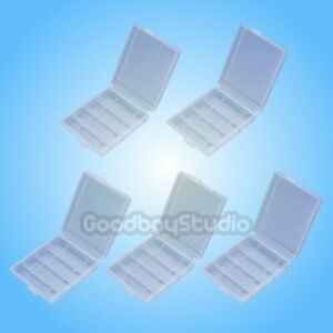 5X New Hard Plastic White Case Cover Holder AA / AAA Battery Storage Box