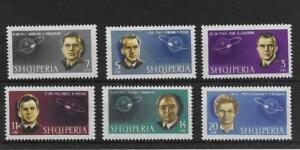 (6) Albania 1963 Cosmonauts MNH set SG763-68