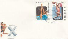 (49227) Liquidazione Nicaragua FDC Pan American GIOCHI 7 agosto 1987