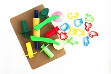 Play Dough Doh complete SET Extruder guns, cutters.  Rolling pin +1 MDF Board