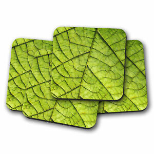 Leaf Roads Painting 4 x Coasters for Drinks Tea Coffee Mug Table Mat