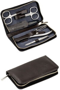 DOVO Solingen Manicure Set Case Men's Leather & Stainless Steel With Nail