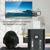 USB Bluetooth 5.0 Audio Transmitter Receiver Adapter 3.5mm for TV PC Car AUX X1