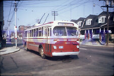 TORONTO TROLLEY BUS SLIDE: TTC 9039 BRILL ANNETTE ROUTE 4 (DUPLICATE)