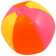 "Inflatable Blow Up Panel PVC Beach Ball 16"" 40cm Swimming Pool Party Toy Kids UK"