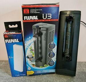 Fluval U3 Internal Filter Submersible for Fish Tank Aquarium with NEW Foam