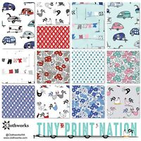 Clothworks Tiny Print Nation Fat Quarter Bundle 13pc Precut Quilting Fabric