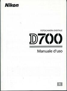 Nikon D700 D-700  manuale istruzioni Italiano, NUOVO,Originale