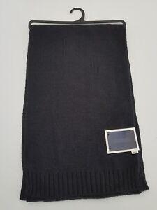 "Club Room Men's Scarf Size 9"" x 65"" Knit Acrylic Black New"