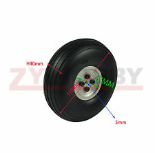 1 pair 4.5inch/115mm PU wheel with Dia-Casting Aluminum Hub for RC Airplane