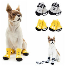4Pc Dog Cotton Knitted Socks Protective Puppy Shoes for Small Medium Large Dog j