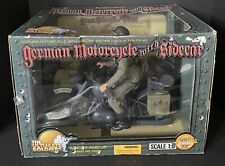 """THE ULTIMATE SOLDIER 1:6 WW2 GERMAN Motorcycle & Sidecar 12"""" 21st Century Toys"""