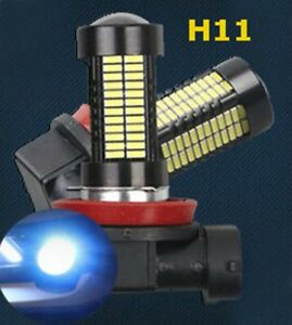 H8 H11 H9 108 4014 LED Blue Bulb Car Truck Fog Light 1 Pair Lamp For BMW Jaguar