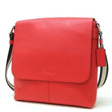 COACH F71721 SULLIVAN SMALL MESSENGER IN SMOOTH LEATHER ORANGE NWT