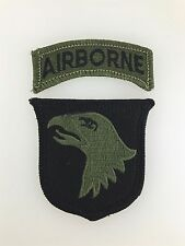 America/American U.S Army Vietnam War 101st Airborne Division cloth sleeve patch
