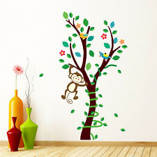 Removable Monkey Wall Decals Kids Bedroom Baby Nursery Stickers Art Room Decor