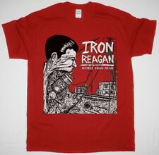 IRON REAGAN WORSE THAN DEAD RED T SHIRT CROSSOVER THRASH MUNICIPAL WASTE