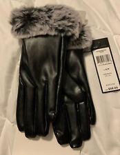 BCBG Ladies Faux Fur Gloves Size S/M