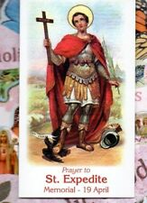 "Saint St. Expedite + Prayer (2"" x 3 1/2"") Heavy Paperstock Holy Card"