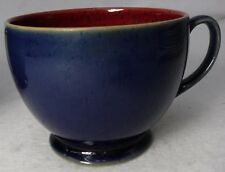 """DENBY china HARLEQUIN pattern BREAKFAST CUP Red/Blue 3-1/4"""""""