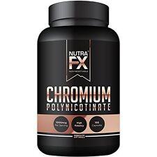 Chromium Polynicotinate 100 Capsules Cholesterol Supplement Metabolism 1000mcg