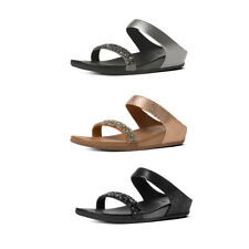 FitFlop Banda Crystal Suede Slide Sandals RRP £95
