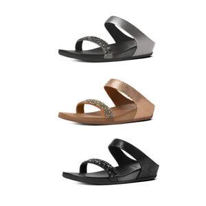 FitFlop Banda Crystal Suede Slide Sandals RRP £95