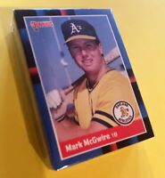 50) MARK McGWIRE Oakland A's 1988 Donruss Baseball LOT Card #256