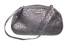 15B Picard Damen Tasche Leder grau Bowling Bag Schultertasche Straußenlederoptik