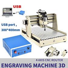 4 Axis CNC 3040 Mill Router USB Desktop 3D Metal Engraver Milling Machine 400W