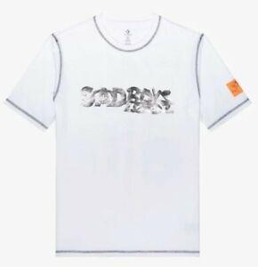 Converse x Sad Boys Yung Lean T-Shirt Top White Mens Size Small 10018084 102 New