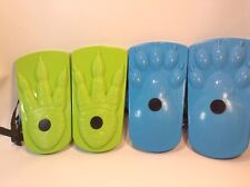 lot of 2 pairs ideal kids sno-stompers shoes bear and dinosaur tracks for snow