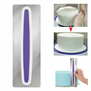 Cake Scraper Butter Cream Edge Smoother Metal Flour Pastry Baking Decor Tools