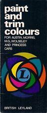 Austin Morris MG Wolseley Vanden Plas Mini Colours & Trims 1971-72 UK Brochure
