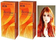Berina Permanent Hair Dye Color Cream A19 Golden Orange