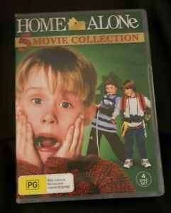 Home Alone : 5 Movie Collection (2016 : 4 Disc DVD Set) Very Good Condition R4