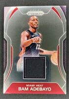 2017-18 Bam Adebayo Panini Prizm RC Rookie Patch Jersey Miami Heat SP!