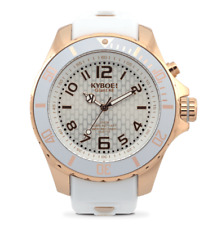 KYBOE RG.48-003.15 NEW Women's Rose Gold GHOST Stainless Steel Silicone Watch